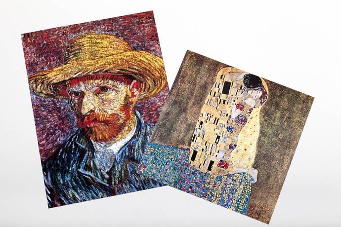 Van gogh zelfportret als fine art print